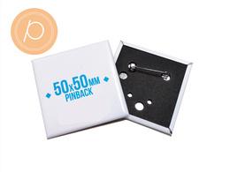 Przypinka prostokątna 50x50mm - zapinane na agrafkę
